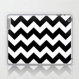 BLACK AND WHITE CHEVRON PATTERN - THICK LINED ZIG ZAG Laptop & iPad Skin