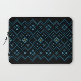 psychedelic upgrade ancient nordic embroidery Laptop Sleeve