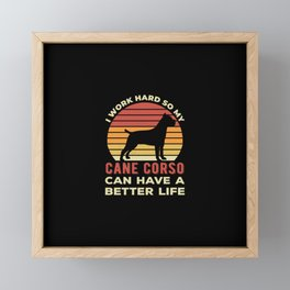 Funny Cane Corso Framed Mini Art Print