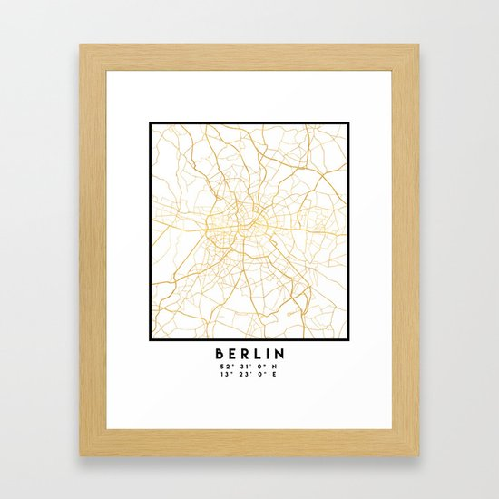 BERLIN GERMANY CITY STREET MAP ART by deificusart