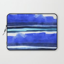 Wave Stripes Abstract Seascape Laptop Sleeve