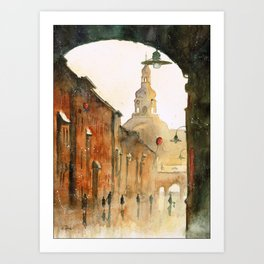 A view on St Anne Street Art Print