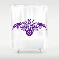 tatoo Shower Curtains featuring tatoo design by Azeez Olayinka Gloriousclick