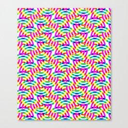 Rainbow Op-Art Pattern Canvas Print