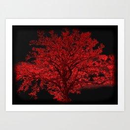 Red Tree A182 Art Print