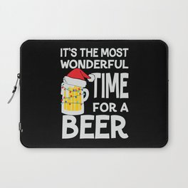 It's the most wonderful time for a beer xmas Laptop Sleeve