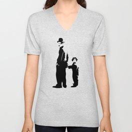 Charlie Chaplin - The Kid 1921 - Artwork for Wall Art, Posters, Prints, Tshirts, Bags, Men Women Kid Unisex V-Neck