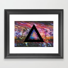 Marble Triangle Framed Art Print