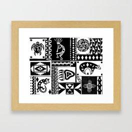Southwest Sampler Framed Art Print