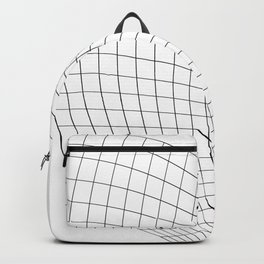 Abstract wireframed waving surface Backpack