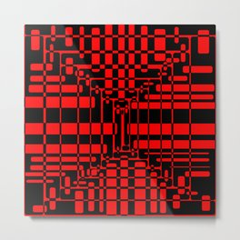 Red Black-39 Metal Print