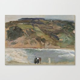 Joaquín Sorolla y Bastida,  Breakwater at San Sebastián Canvas Print