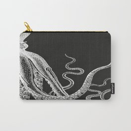 Half Octopus (Right Side)   Vintage Octopus   Diptych   Black and White   Carry-All Pouch