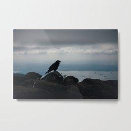Crow over Vancouver Metal Print