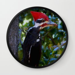 My first Pileated woodpecker! Wall Clock