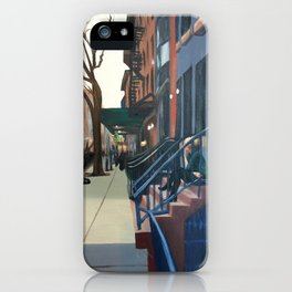 Woman on the Stoop, West 21st Street iPhone Case