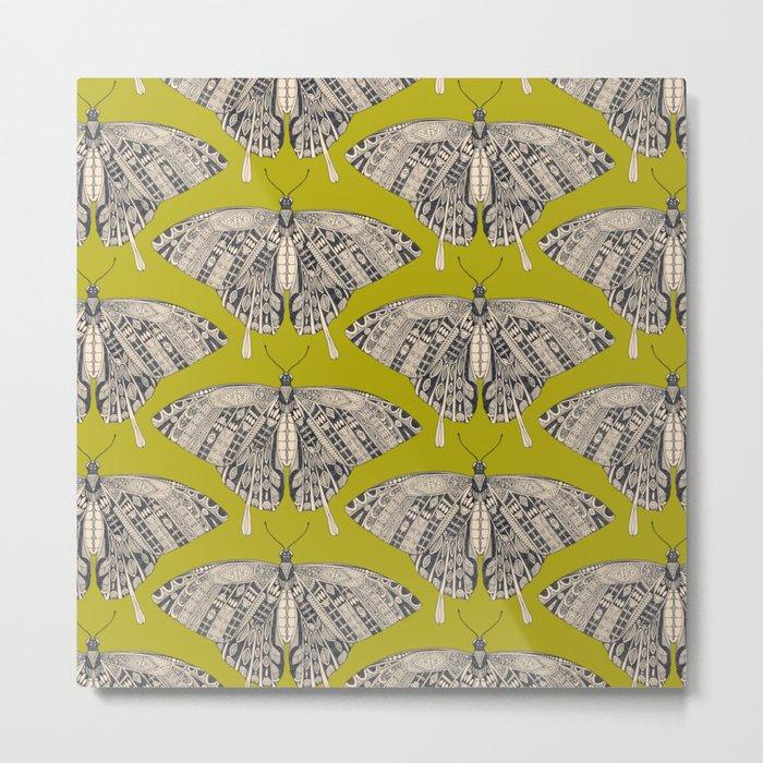 swallowtail butterfly citron basalt Metal Print