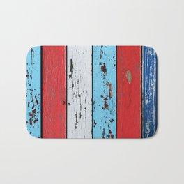 Multicolored Wooden Planks Bath Mat