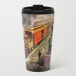 American Railroad Scene (Currier & Ives) Travel Mug