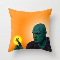 apocalypse now Throw Pillows featuring Apocalypse Now Marlon Brando by CultureCloth