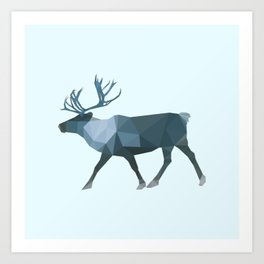 cool mountain caribou Art Print