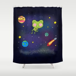 Planet Hopping Shower Curtain