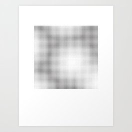 Full Configuration Black Raster - Optical game 13 Art Print