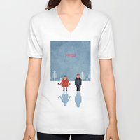 fargo V-neck T-shirts featuring Fargo by laurxy
