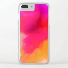 Sunset Glow Clear iPhone Case
