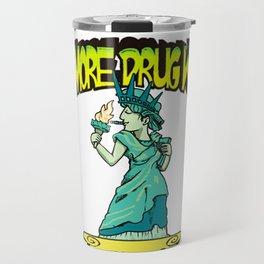 Cannabis March Rally - Statue of Liberty Travel Mug