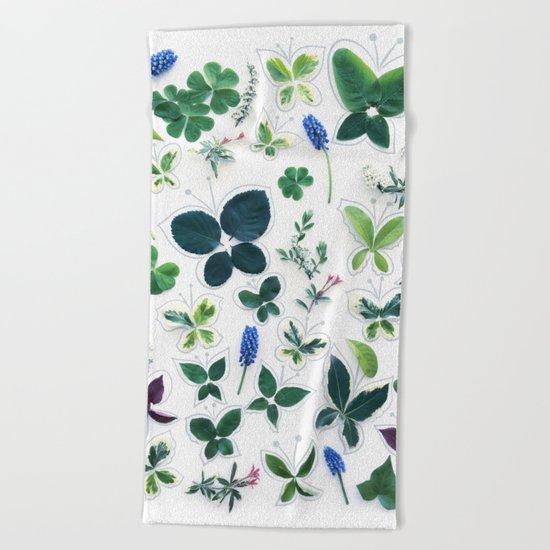 Nature Butterfly Pattern 1 Beach Towel
