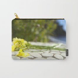 Sunlit St Tropez Flowers Carry-All Pouch