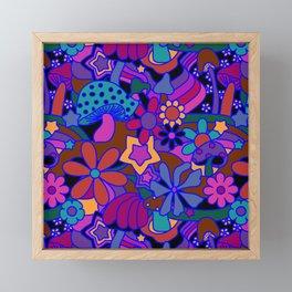 70's Psychedelic Garden in Cool Jeweltone Framed Mini Art Print