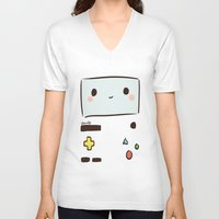 bmo V-neck T-shirts featuring BMO by I3uu