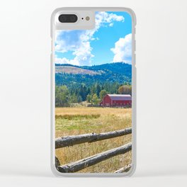 Twin Lakes Barn Clear iPhone Case
