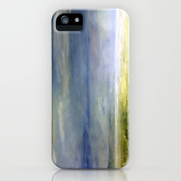 Sea Shore Watercolor Ocean Landscape Nature Art iPhone Case
