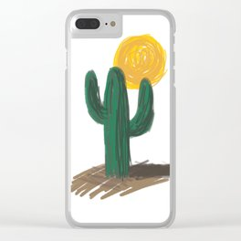 Cactus and Sun Clear iPhone Case