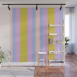 Bold Stripes Green/Purple Wall Mural