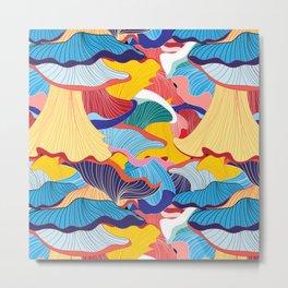 Pattern of colorful mushrooms Metal Print