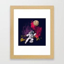 minimalist Astronaut Framed Art Print