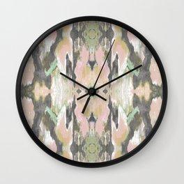 Pattern in Pale Pink & Grey Wall Clock
