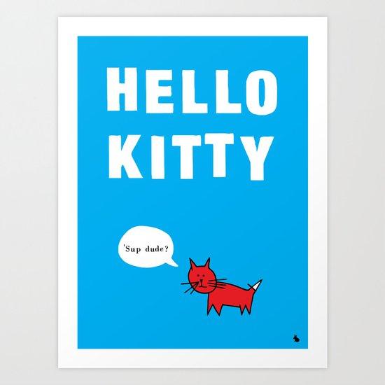 Hello kitty. Art Print