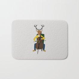 Deer playing cello Bath Mat