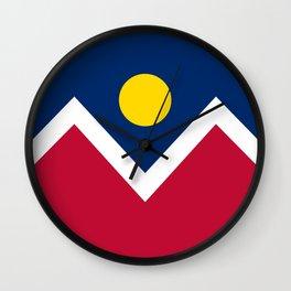Denver City Flag - Authentic High Quality Wall Clock