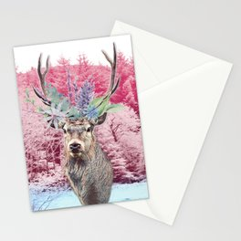 Floral Stag Stationery Cards