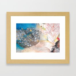 Crystal Snake Framed Art Print