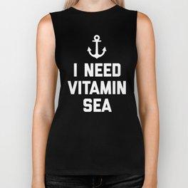 Vitamin Sea Quote Biker Tank