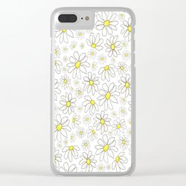 Picking Daisies Clear iPhone Case