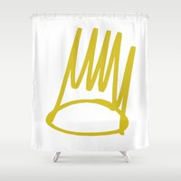 crown Shower Curtains featuring Crown by GerritakaJey