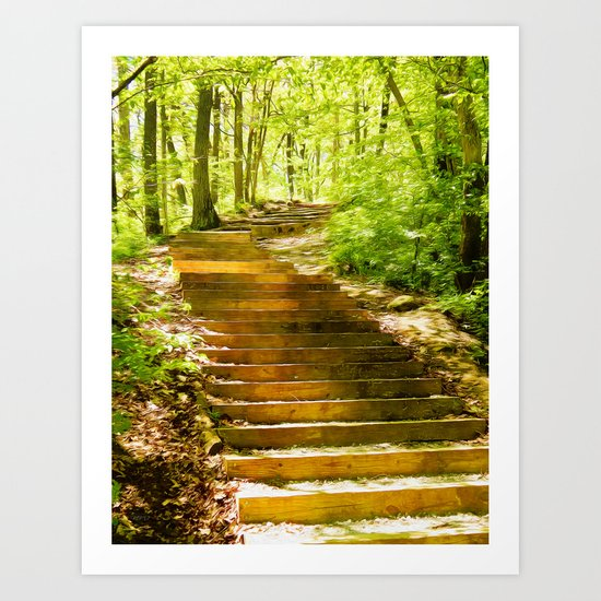 Steps Through The Forest Art Print